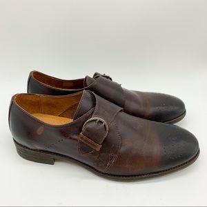 Robert Wayne monk style buckle men's shoe, 11.5